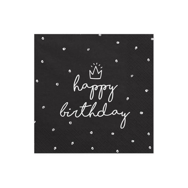 Serviette Happy Birthday 33x33 cm
