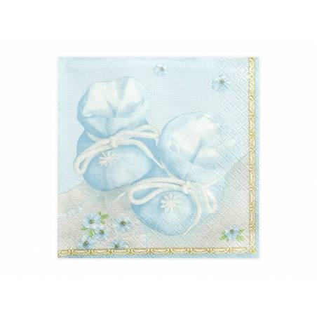 Serviettes de bain bleu 33 x 33 cm
