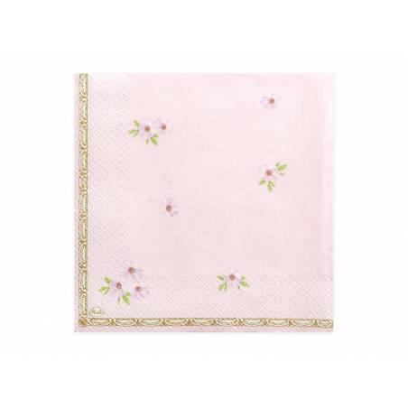 Serviette de bain rose 33 x 33 cm
