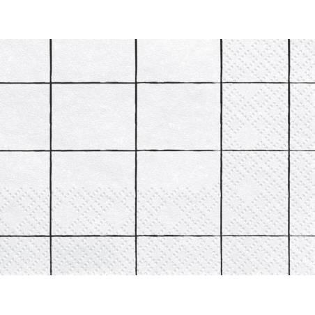 Serviette Grille 33x33 cm