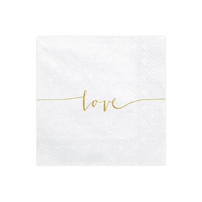 Serviettes Love or 33x33cm
