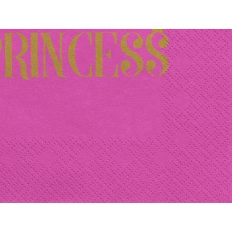 Serviette Princesse 33x33cm rose foncé