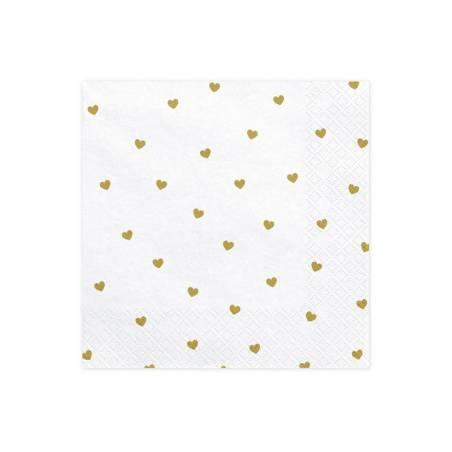 Serviette Hearts blanche 33x33cm