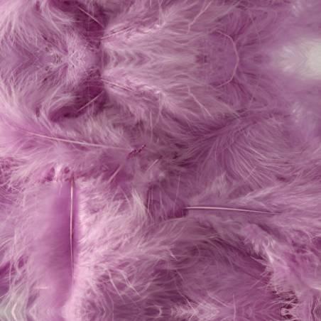 Plumes de dinde - Couleur lilas