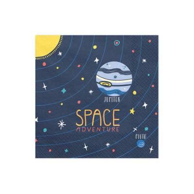 Serviettes Space Party 33x33cm