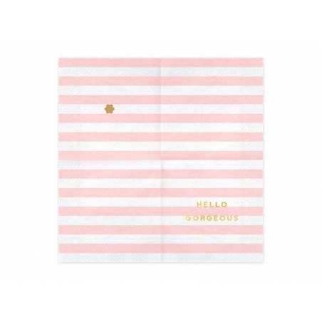 Serviettes de table Yummy - Hello Gorgeous rose pâle 33x33cm