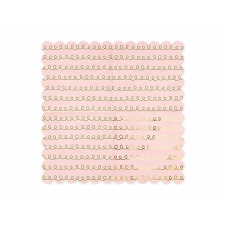 Motifs de calque de serviettes de table rose poudré clair 32x32cm