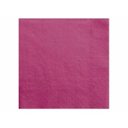 Serviettes de table 3 couches rose foncé 40x40cm