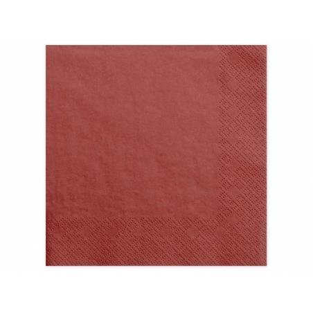 Serviettes de table 3 épaisseurs rouge 40x40cm