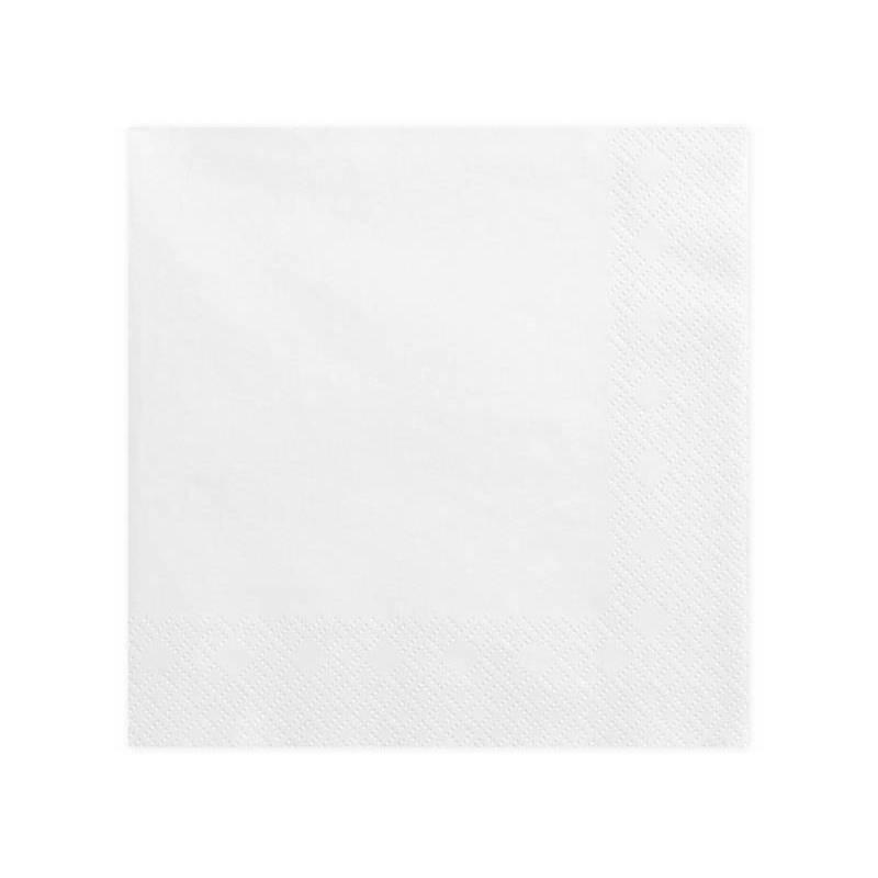 Serviettes de table 3 épaisseurs blanches 40x40cm