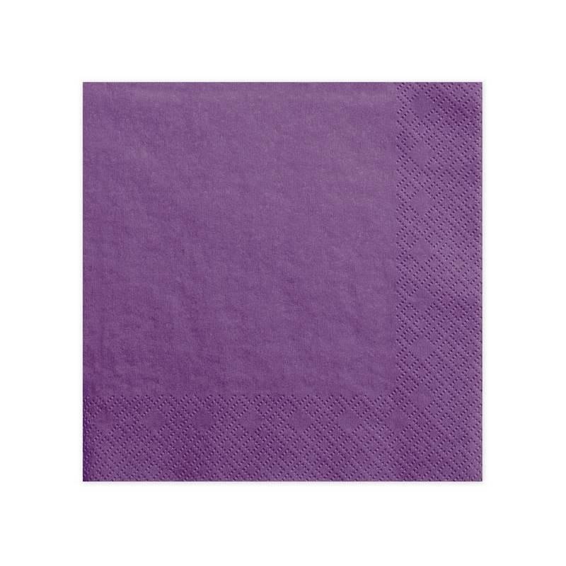 Serviettes 3 couches violet clair 40x40cm