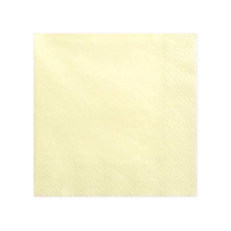Serviettes 3 couches crème légère 40x40cm