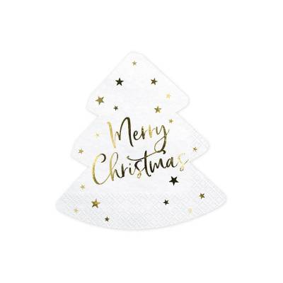 Serviette Sapin de Noël - Joyeux Noël 16x16.5cm