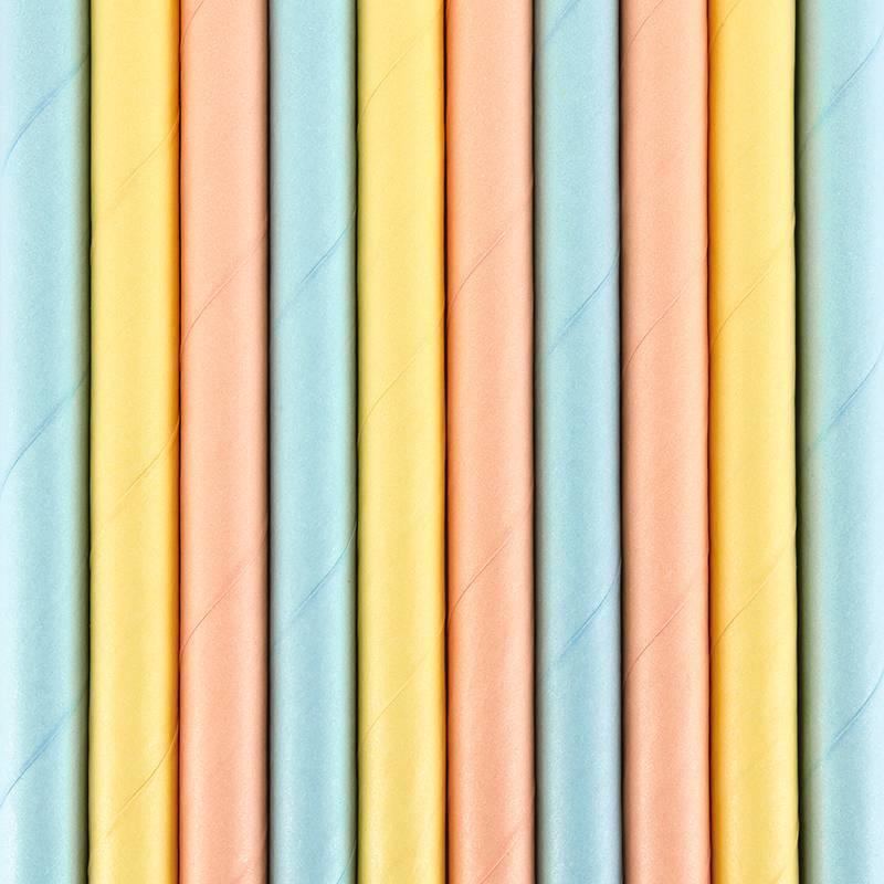 Pailles en papier heure d'été 195 cm