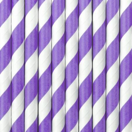 Pailles en papier lilas 195 cm