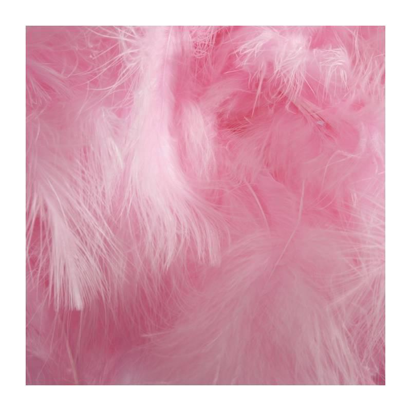 Plumes de dinde - Couleur rose