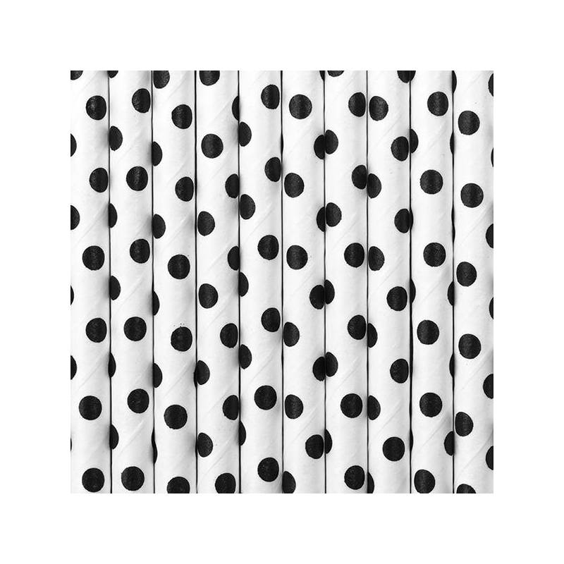 Pailles en papier blanches 195 cm