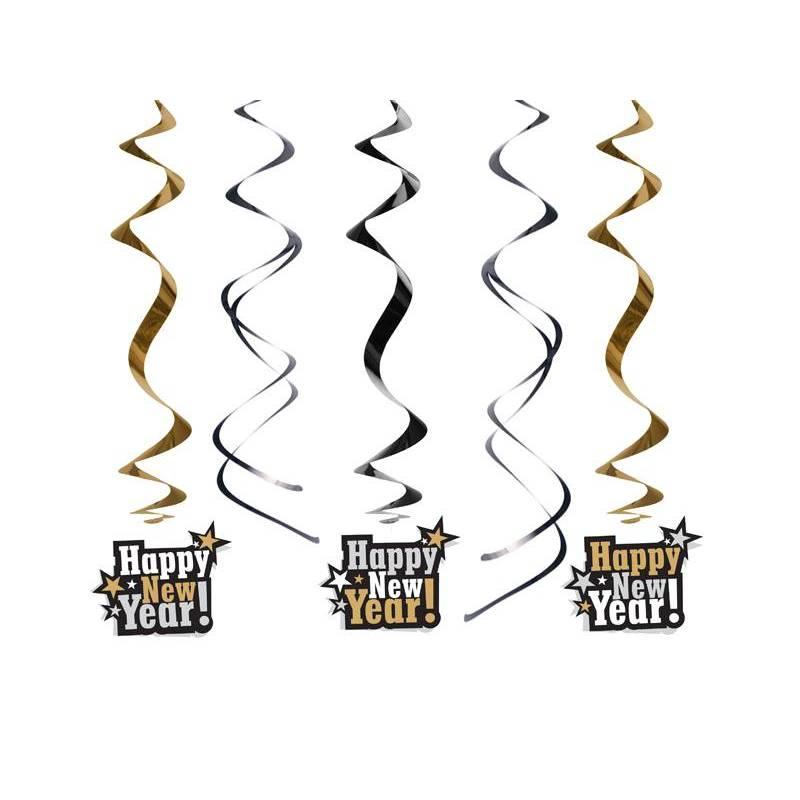 Swirls Happy New Year ! mélange 60cm