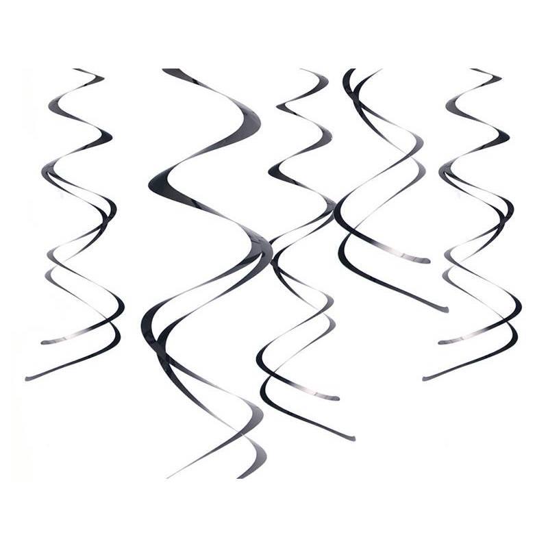 Décorations à suspendre Swirls noir