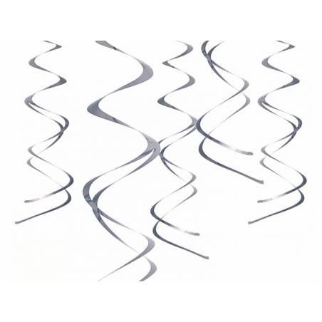 Décorations à suspendre Swirls silver