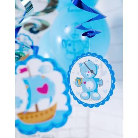 Nounours tourbillonnant bleu 60cm