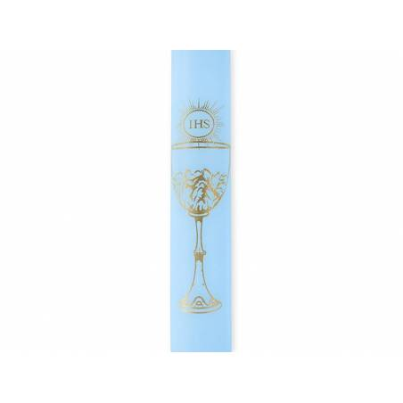 Bougies IHS bleu ciel 29cm