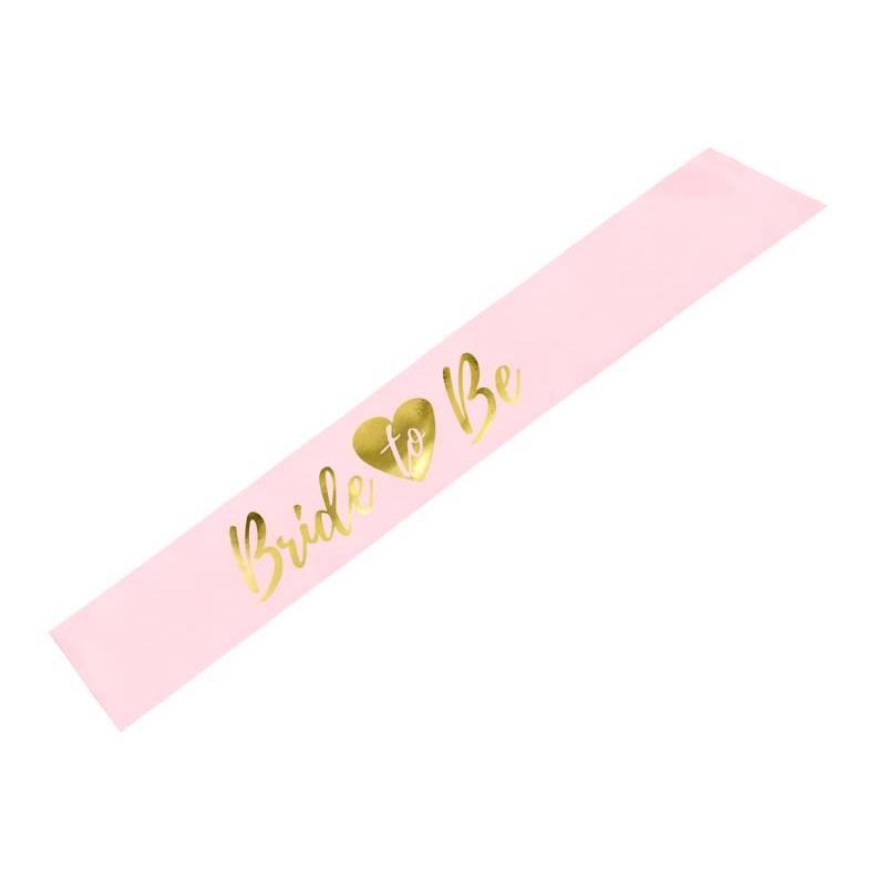 Ceinture Mariée à être rose clair 75cm