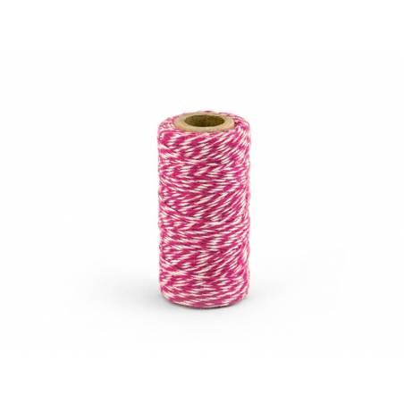 Ficelle de boulanger rose foncé 50m