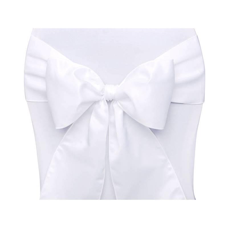 Housses de chaise blanches 015 x 275