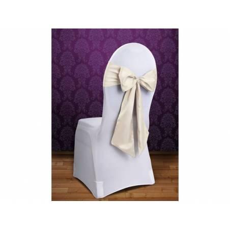 Housses de chaise crème 015 x 275