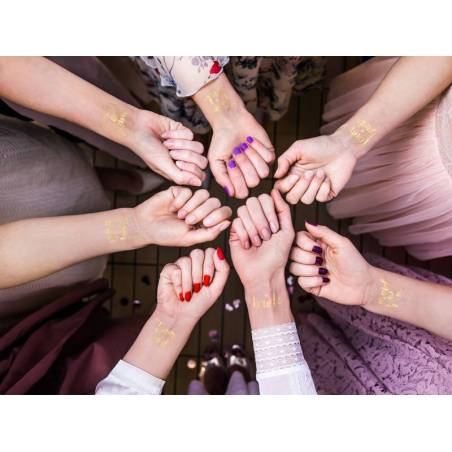 Tatouages ​​temporaires Bachelorette party or