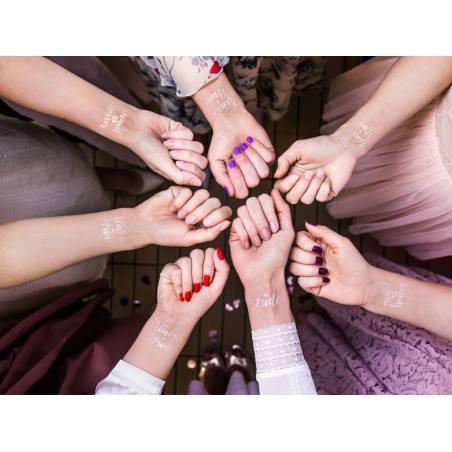 Partie de Bachelorette de tatouages temporaires or rose