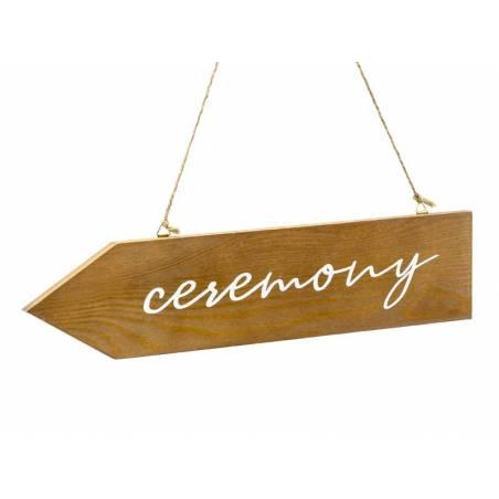 Panneau de cérémonie en bois 36x7.5cm