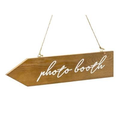 Panneau photo en bois stand photo 36x75cm