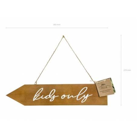 Panneau en bois pour enfants seulement 36x7.5cm