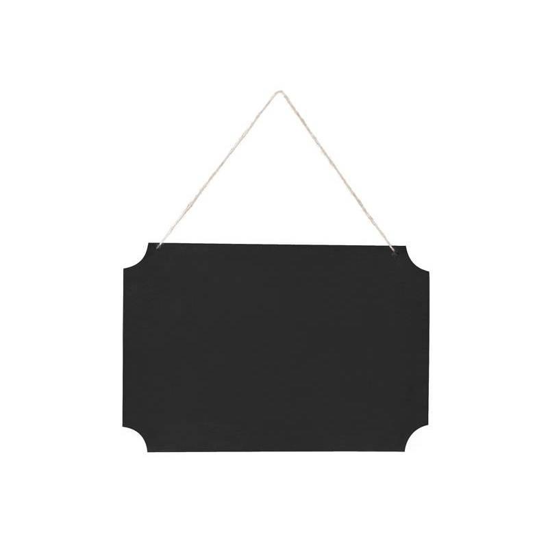 Panneau suspendu noir