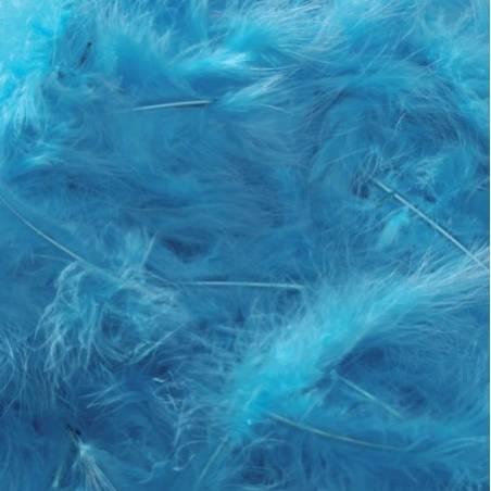 Plumes de dinde - Couleur turquoise