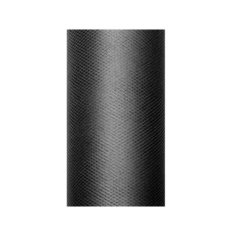 Tulle Plain noir 015 x 9m