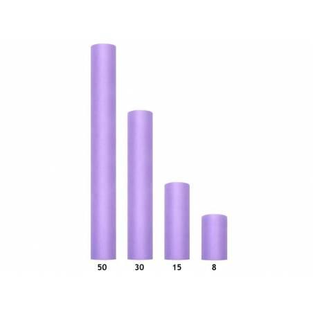 Tulle Uni violet 015 x 9m